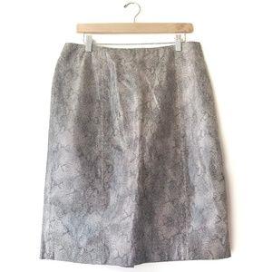 Vintage Gianni Snake Print Leather Pencil Skirt